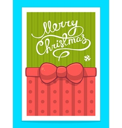 Christmas card with white hand written te vector