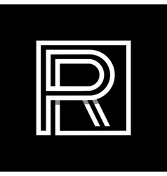 Capital letter r monogram logo emblem vector