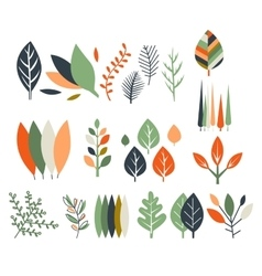 Leaves collection modern design vector