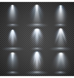 Light sources concert lighting stage vector