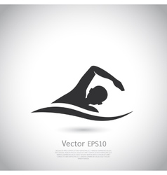 Swimming represents active people sport vector
