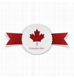 Canada day festive paper label vector