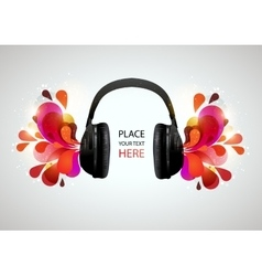 abstract background with headphones vector image