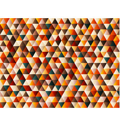 abstract triangle pattern retro color style vector image vector image