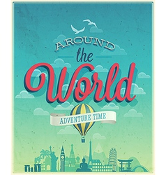around the world vector image vector image
