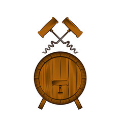 Barrel and corkscrew vector