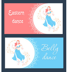Belly dance day banner vector