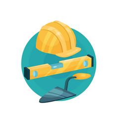builder icon construction tools cartoon vector image vector image