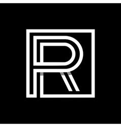 Capital letter R Monogram logo emblem vector image vector image