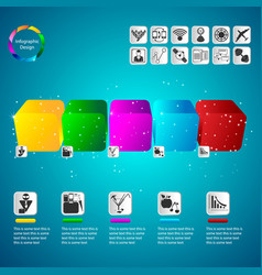 Color volumetric info graphics for business vector