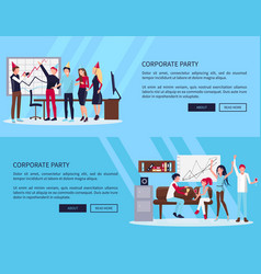 Corporate party web page on vector
