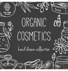 Cosmetic bottles organic cosmetics vector