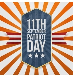 Eleventh september patriot day badge vector
