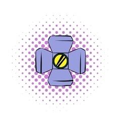Floodlight comics icon vector image vector image