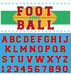 font 3 vector image vector image