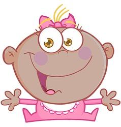 Happy baby cartoons vector image