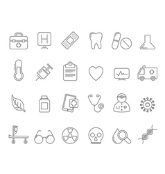 Health Care and hospital icons vector image vector image