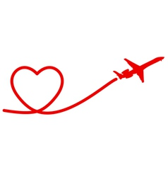 heart plane vector image vector image