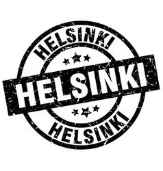 helsinki black round grunge stamp vector image vector image