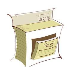 Icon oven vector