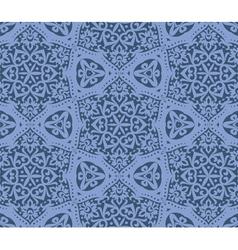 Kaleidoscope floral pattern vector