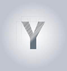 Letter y logo alphabet logotype architectural vector