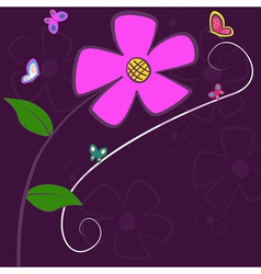 Lilac Flower Card vector image