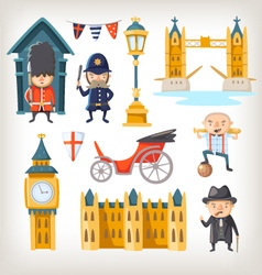 London sights and people vector