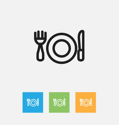 Of cooking symbol on plate vector