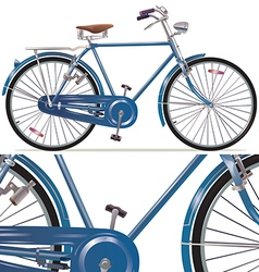 Old style retro bicycle vector