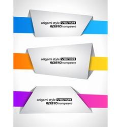 origami style speech vector image