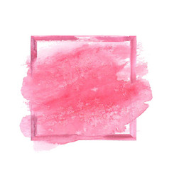 pink watercolor grunge frame vector image vector image