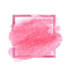 pink watercolor grunge frame vector image