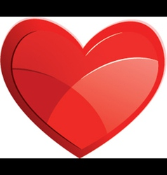 Red Heart Isolated On White Background vector image vector image
