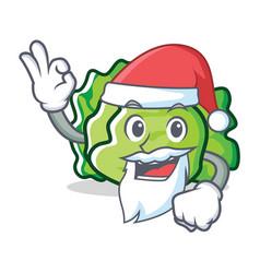 Santa lettuce character mascot style vector