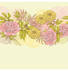 seamless pattern with flowers Hand drawn vector image vector image