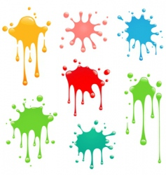 splash set vector image vector image