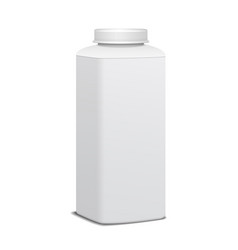 square plastic bottle with screw cap for dairy vector image