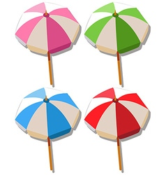 Umbrella in four colors vector image