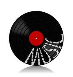 Vinyl record-lp music vector