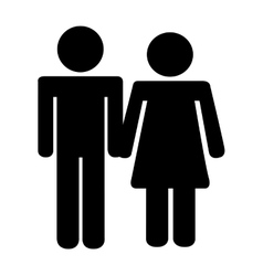 Couple avatar silhouette isolated icon vector