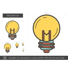 Idea bulb line icon vector