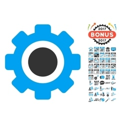 Gear icon with 2017 year bonus pictograms vector