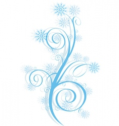 Winter swirl vector