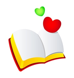 Icon bible and heart vector