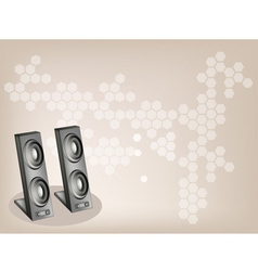 Two computer speaker background vector