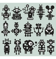 Monsters and robots collection 20 vector