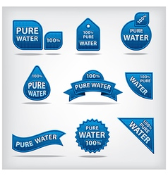 Water labels vector