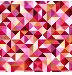 Seamless geometric triangle red pattern vector