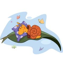 Sleeping snail vector image